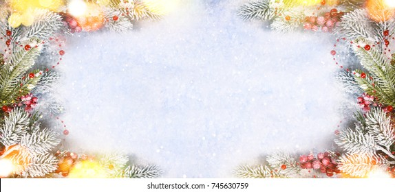 Christmas holiday snow background