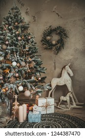 Christmas holiday vintage decorations