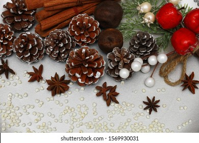 christmas holidays, christmas holidays, 2020, angel, snowman, pine cone, cinnamon, granite, black, decorations, baking, molds, roasted millet, candy, ornaments, background, dried lime