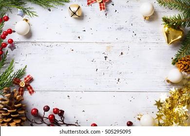 Christmas holidays background with Christmas holidays ornament on white background