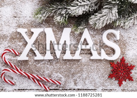 Christmas Holidays Background Wooden Letters Pine Stock Photo Edit