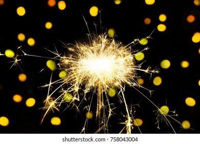 Christmas holidays black background with sparkles. Celebrating
