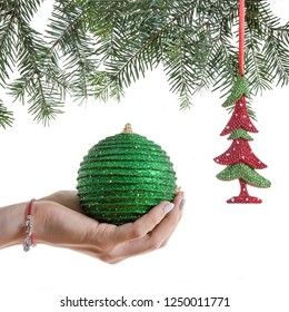 Christmas holidays, toys for the Christmas tree, Christmas balls