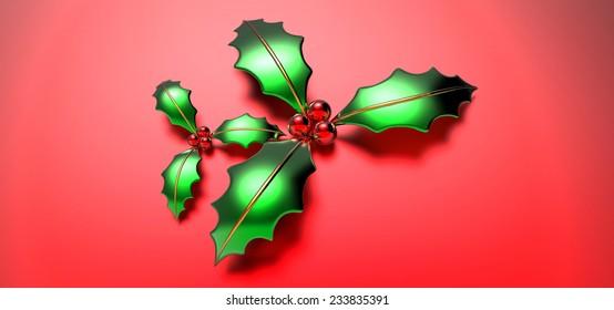 Christmas Holly 3D