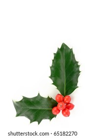 Christmas holly corner.