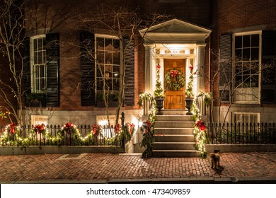 Christmas Lights House Images Stock Photos Vectors