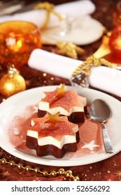 Christmas ice cream with chocolate and cinnamon