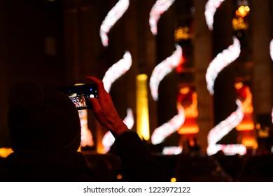 The Christmas illumination