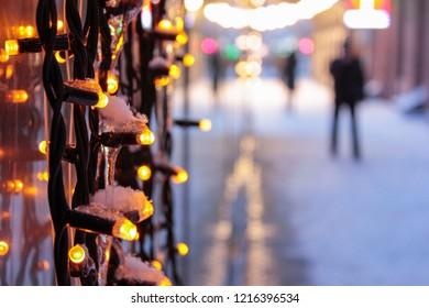Christmas illumination in the city.