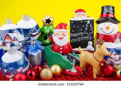 Christmas item for decoration on christmas day.Theme Christmas background.
