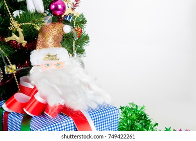Christmas items on white background use for celebration