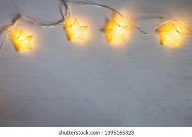 christmas lamp star on white background