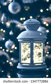Christmas lantern scene