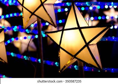 Christmas lantern star, close up