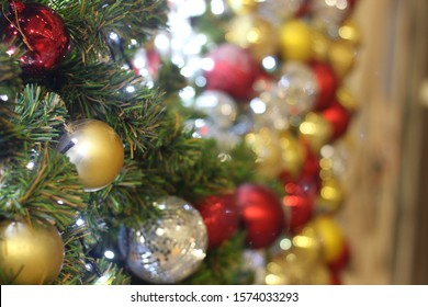 christmas light background with abstract bokeh light