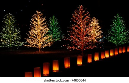 christmas light display winterhaven tucson arizona stock photo