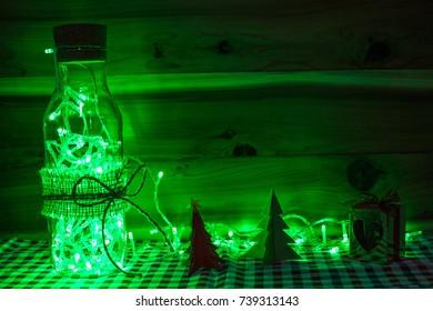 Christmas light green color decor.