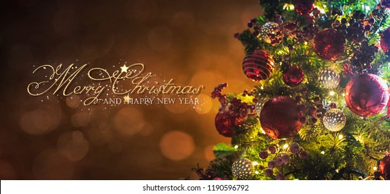Christmas light. Christmas and New Year holidays background