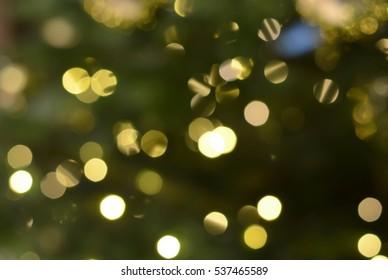 Christmas lights. Bokeh lights against a dark background.