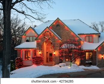 Christmas lights as decoration