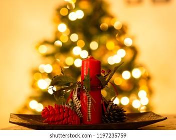 Christmas lights and decorations
