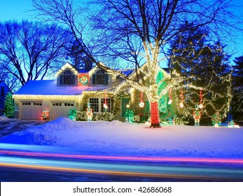 Christmas lights in Minnesota