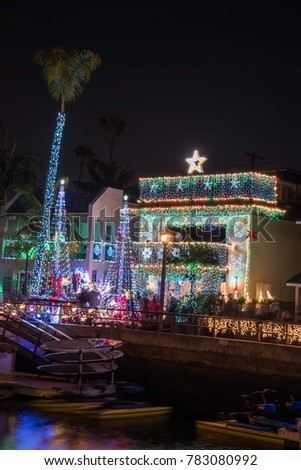 christmas lights at naples longbeach