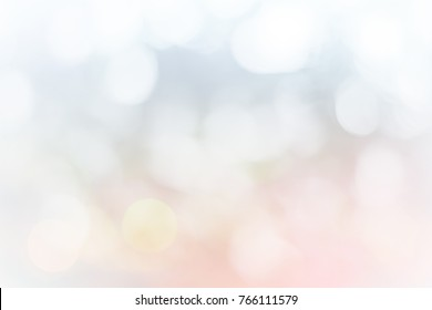 Christmas lights Nature blurred or bokeh color snow glow colorful light sparkling background.