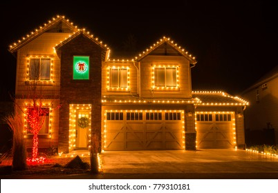 House With Christmas Lights Clipart.Christmas Lights House Images Stock Photos Vectors