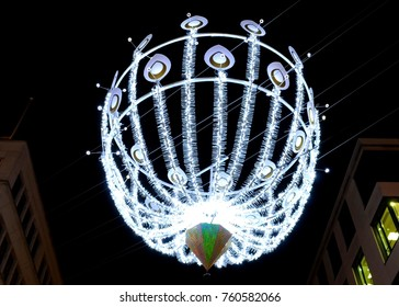 Christmas lights on New Bond Street, London, UK.