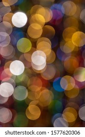Christmas lights out of focus. Background for cards and New Year greetings.