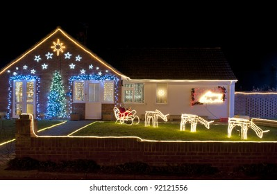 Christmas home lighting House Cape Cod Christmas Lights Outside On House Nbc Dfw Christmas Lights House Images Stock Photos Vectors Shutterstock