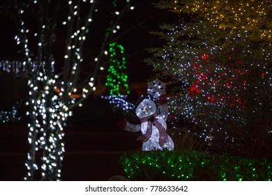 Christmas lights and Santa