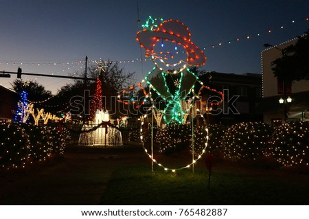 Christmas Lights Small Town America Stock Photo Edit Now 765482887
