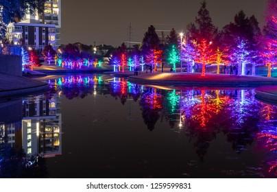 Christmas Lights at Vitruvian Park Addison Texas