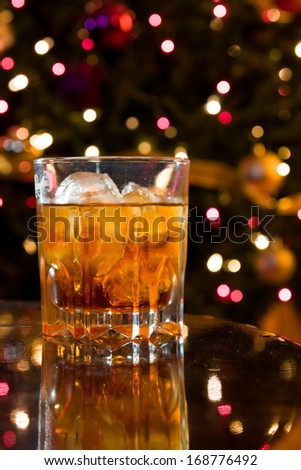 christmas liquor cocktail crystal glass on stock photo edit now