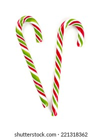 christmas lollipop isolated on white