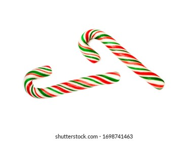 Christmas lollipop, ornament isolated on white background
