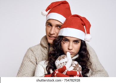 Christmas love story, a young couple