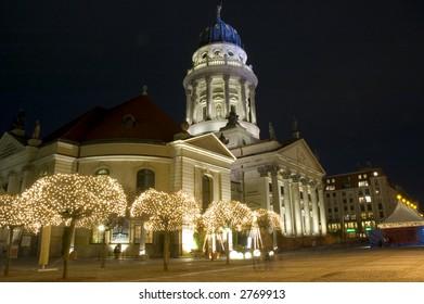 A christmas market in Berlin,