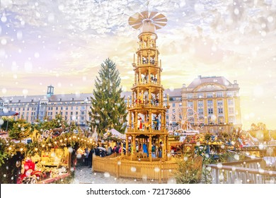 Christmas market in Dresden, Germany.
