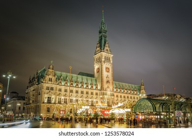 Christmas Market in front of the city hall, Germany