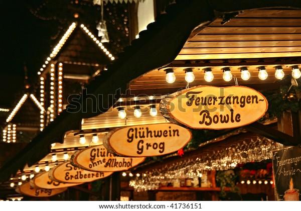 Weihnachtsmarkt - Mullweinverkauf in Lueneburg (bei Hamburg)