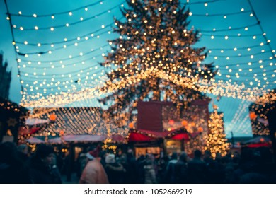 Köln Christmas market in the Old Town - Advent in Germany - Xmas market stalls in Cologne, Germany - Shopping scene and fairy ambiance, Germany, December  2017