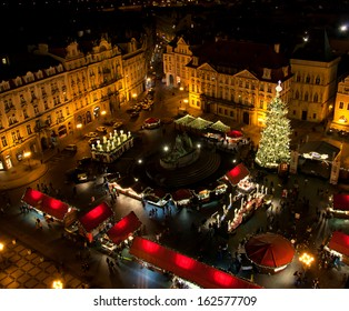 Christmas market in Old Town Square in Prague.