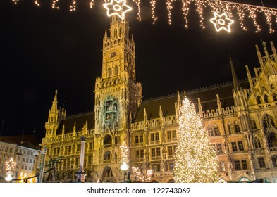 The christmas market on the Marienplatz in Munich