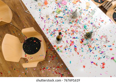 Christmas mess after office party