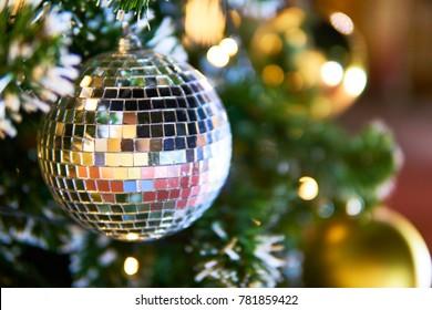 christmas mirrorball , new year mirrorball