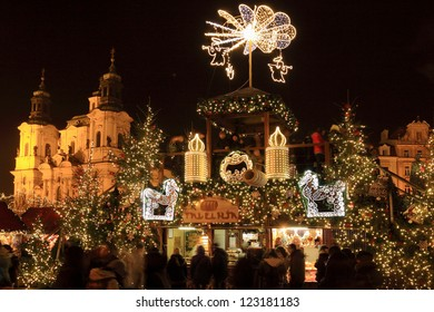 Christmas Mood on the Old Town Square, Prague, Czech Republic