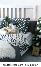 Christmas morning Breakfast and gifts in bed